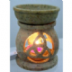 Oil Burner~ Bohemian Hippy Hand Carved Large Triquetra Oil and Wax Melt Burner~ By Folio Gothic Hippy OB829